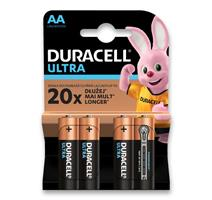 Duracell Alkalické baterie Ultra 4 ks, AA