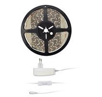 Solight LED světelný pás s testrem, 5m, sada s 12V adaptérem, 4,8W/m, IP65, teplá bílá WM51-65T