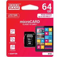 GOODRAM 64GB, micro SDXC UHS-I (M1AA-0640R11)